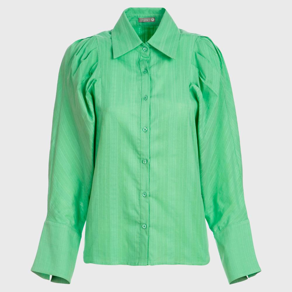 Camisa Feminina Manga Longa - Verde