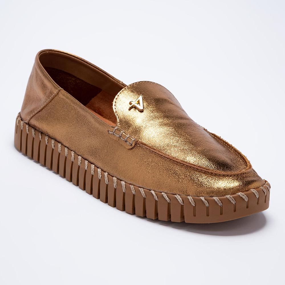 Sapato Mocassim Maleável Feminino Couro 34
